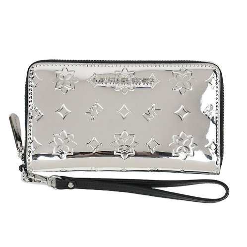 Michael Kors LG Flat PHN Case Silver