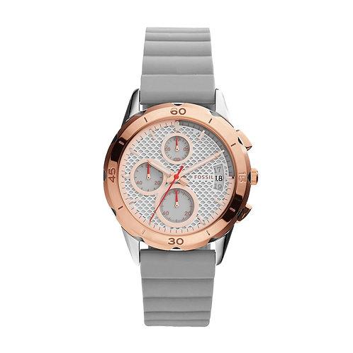 Women's Fossil Modern Pursuit Chronograph Grey Strap Watch