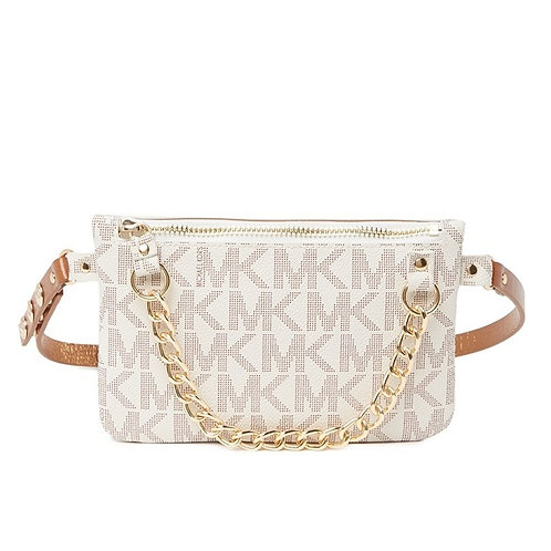 Michael Kors Belt Bag Signature Vanilla
