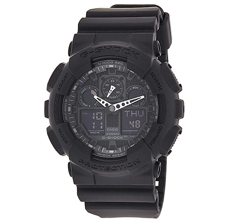 Casio Men's G-SHOCK The GA 100-1A1 Military Series Watch in Black