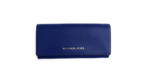 Michael Kors Jet Set Carryall Wallet Cobalt