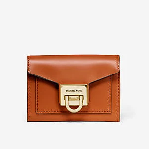Michael Kors Manhattan Flap Wallet Burnt Orange