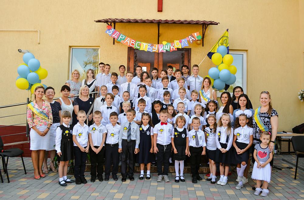 Школа открыла двери 3.09.2018 года 47 ученикам