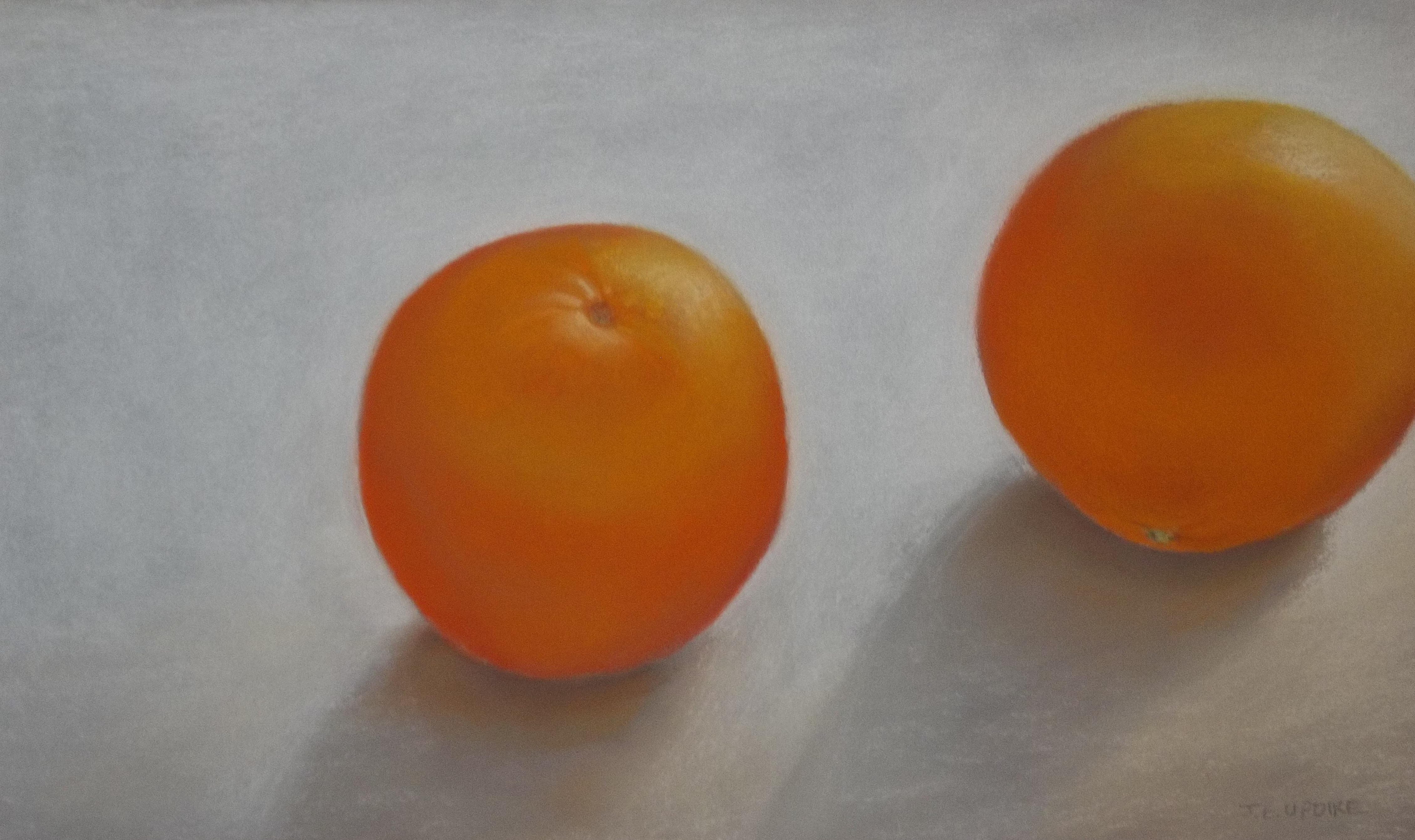 Two Navel Oranges