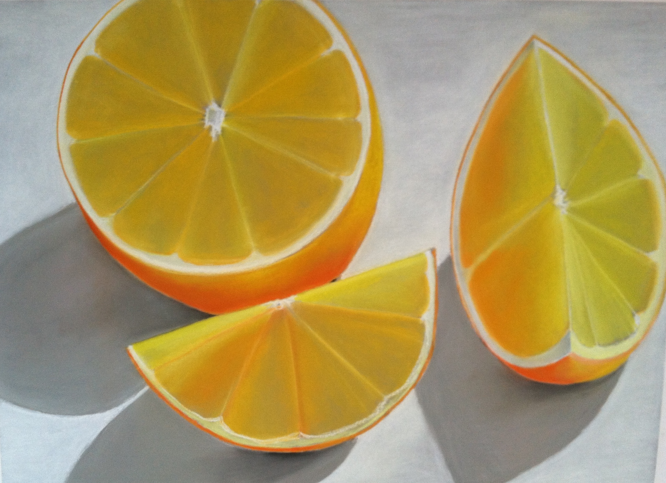 Large Orange Still Life