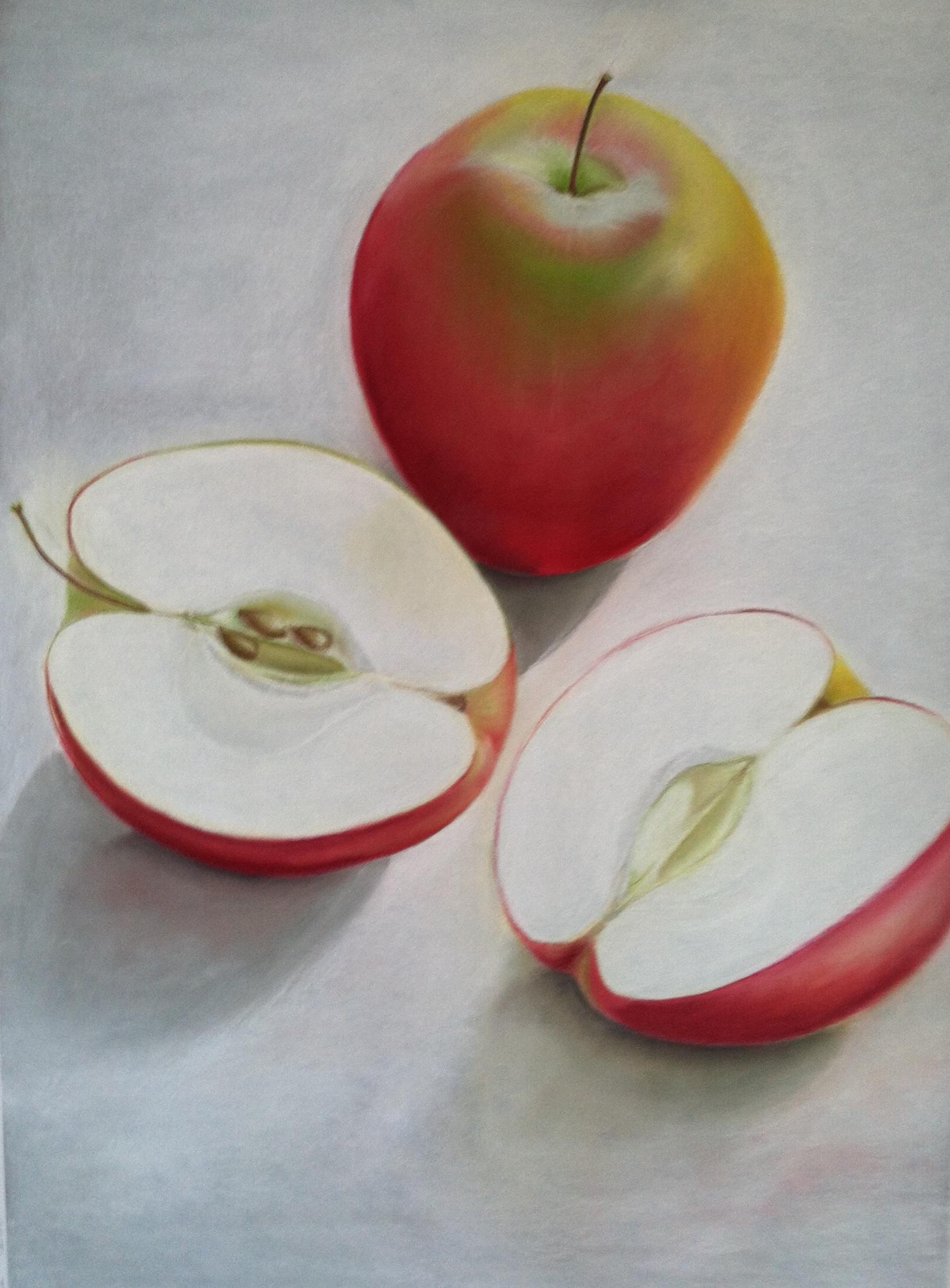 Large Apple Still Life