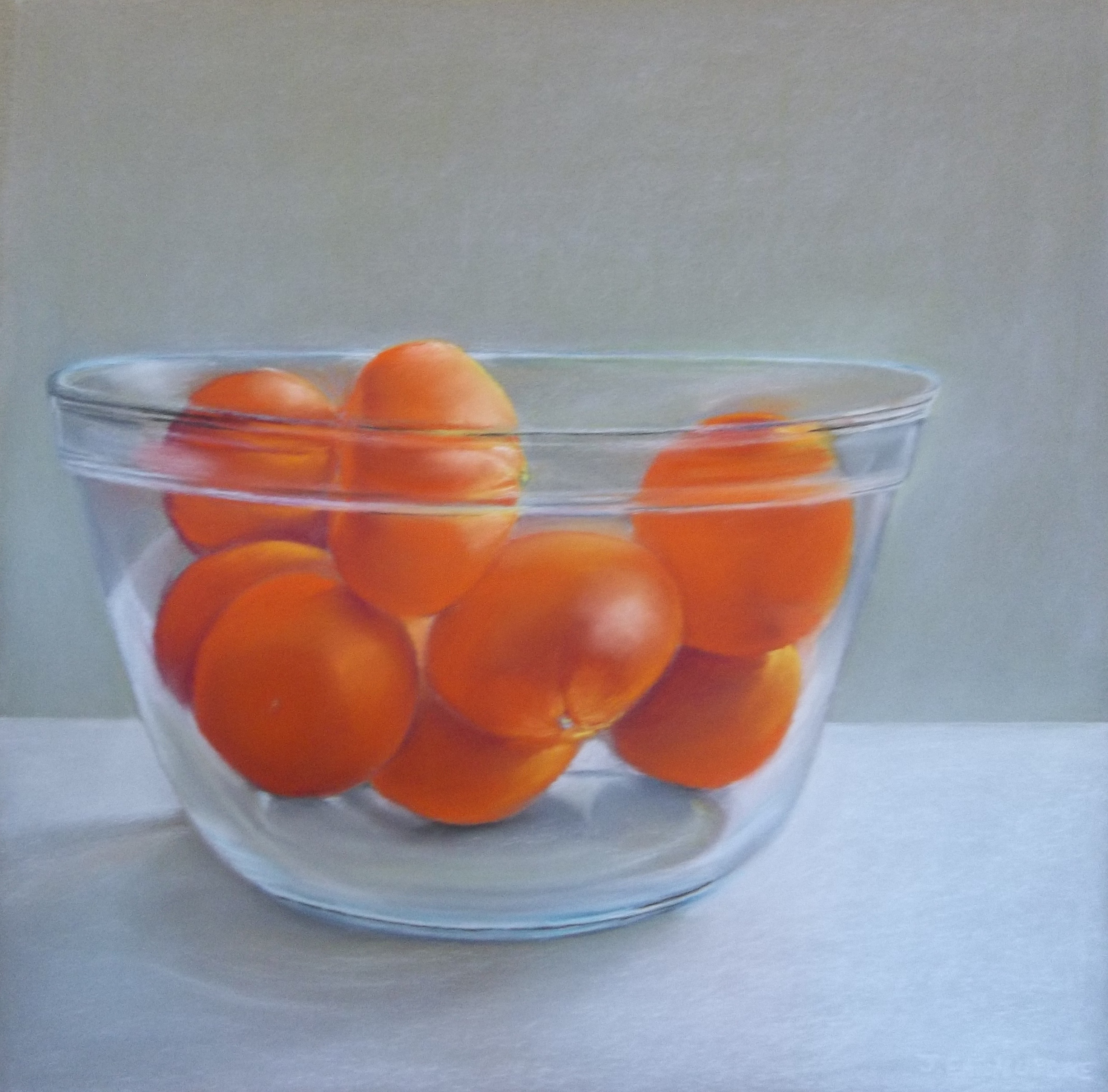 Clementines in Glass Bowl