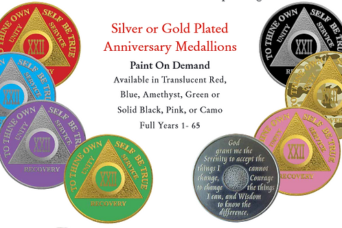 Silver or Gold plated AA Medallions