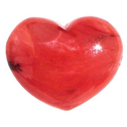 Puffy Heart Stones - Strawberry Obsidian
