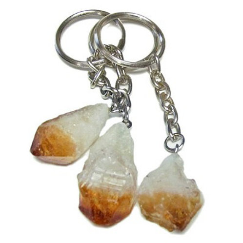 Mineral Keychains - Citrine Point Rough