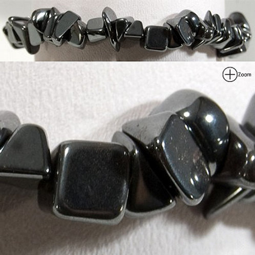 Chip Bracelet - Hematite