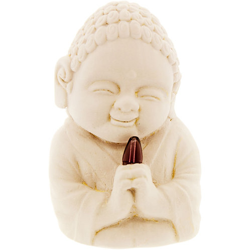 Buddha Figurine - Healing w/Faceted Amethyst