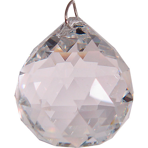 Prism Crystal 20 mm Faceted Sphere Clear Quartz