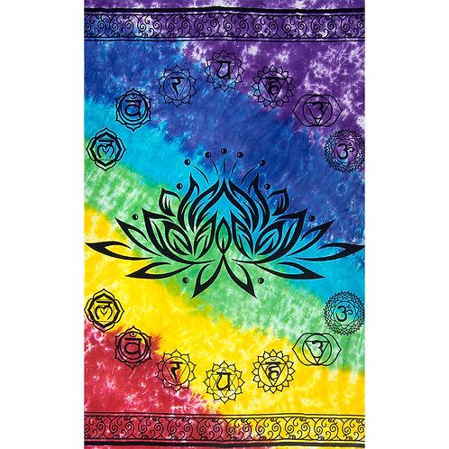 Cotton Single Tapestry - Lotus - Chakra