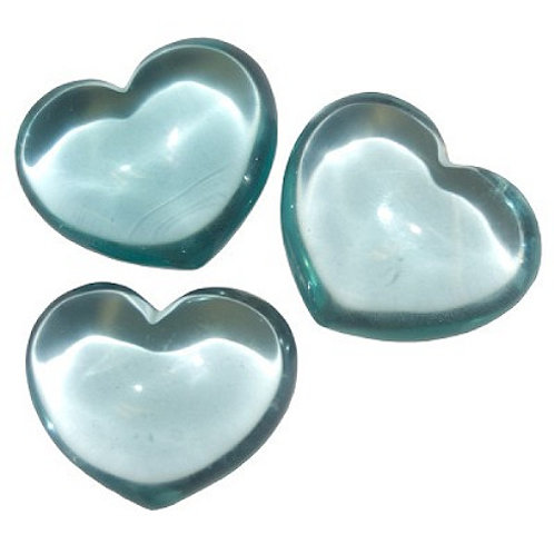 Puffy Heart Stones - Blue Obsidian