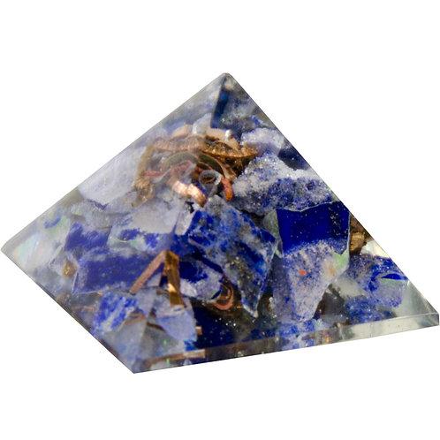 Orgone Resin Pyramid - Lapis - Third Eye Chakra