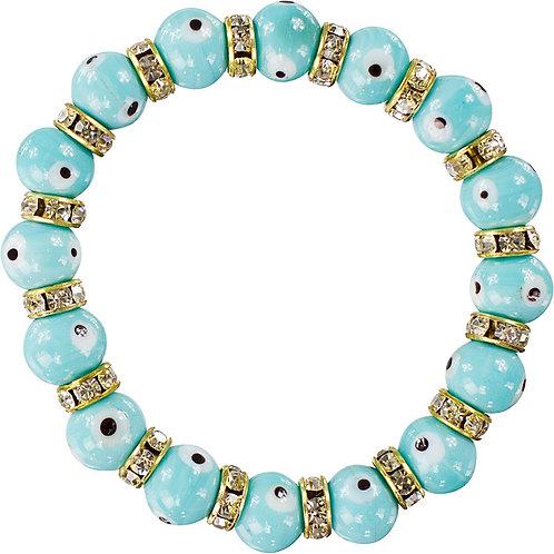 Evil Eye Protection Bracelet - Aqua
