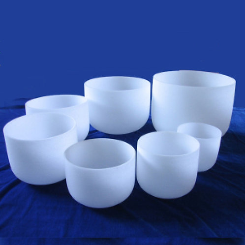 Quartz Chakra Tuned Singing Bowls