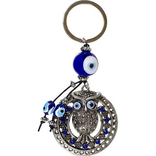 Evil Eye Talisman Key Ring - Owl