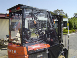 forklift seat & clear