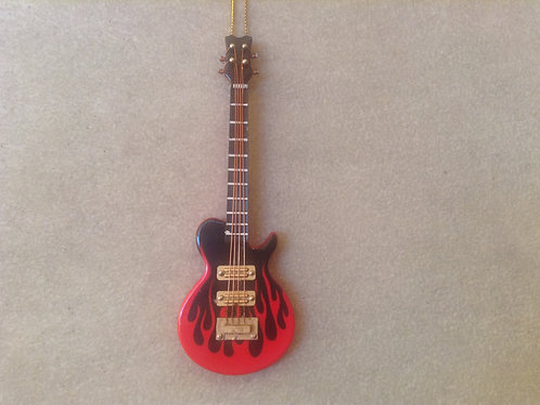 Red Flame Les Paul