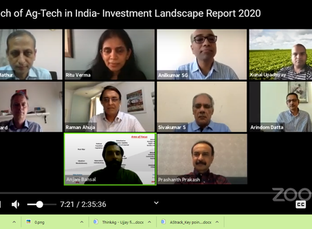 Web launch of Ag-Tech in India- Investment Landscape Report 2020