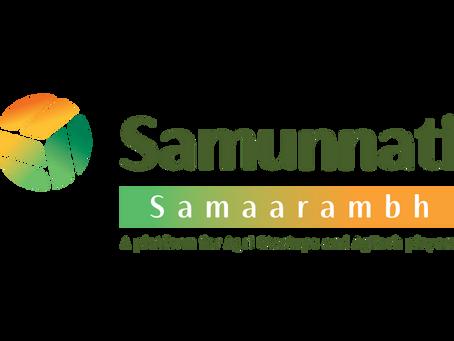 """Samaarambh""- Samunnati's Agri Startup Engagement Platform"