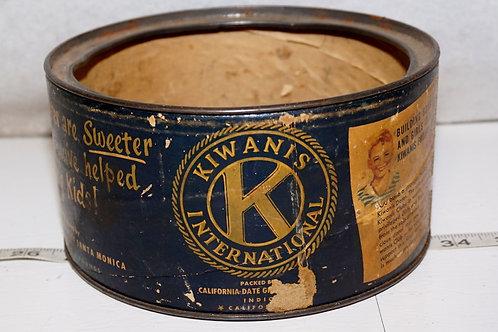 Kiwanis Dates Tin - No Lid