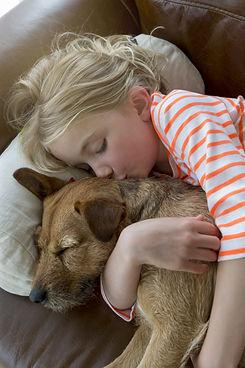 Child and Beloved Dog