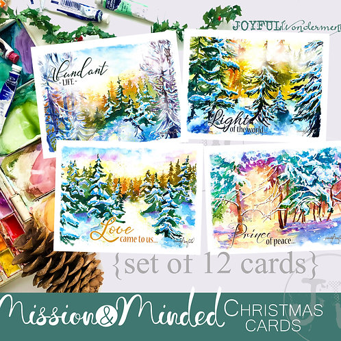 Mission-Minded Christmas Cards ~ Set of 12