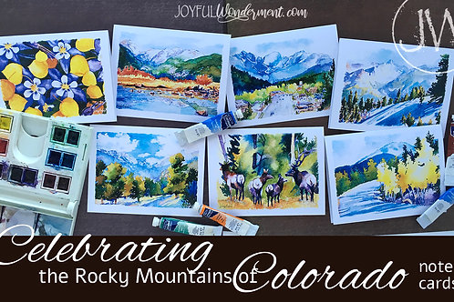 Rocky Mountains Note Cards