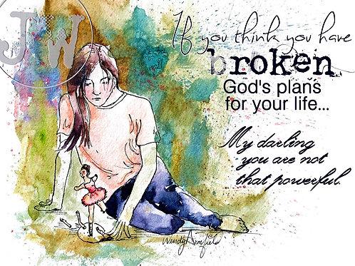 Broken Plans - Art Print