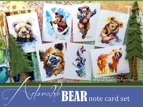 All Bears ~ Note Card Set of 7