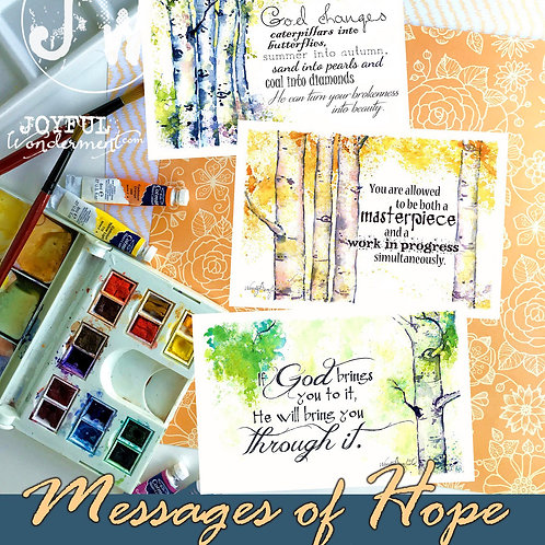 Messages of Hope ~ Set of 12