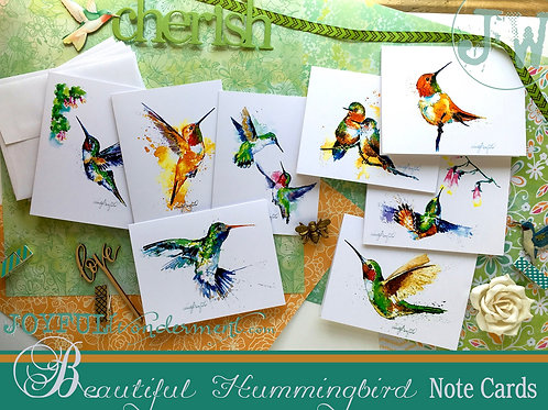 Hummingbird Note Card Set of 8