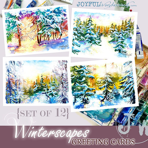 Winterscapes Greeting Cards ~ Set of 12