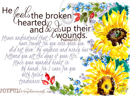 He Heals & Binds ~ Art Print