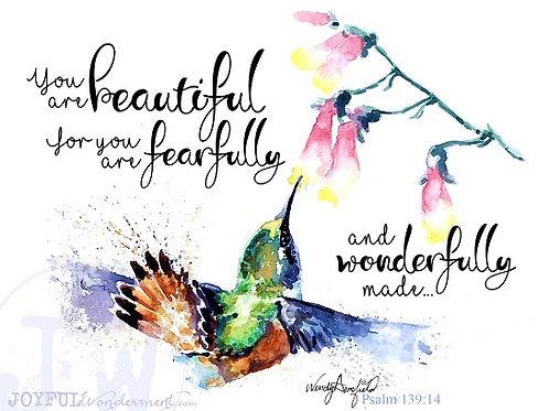 You R Wonderfully Made -- Art Print