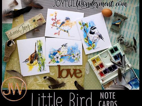 Little Bird ~ Note Card Sets of 8, 12, 16