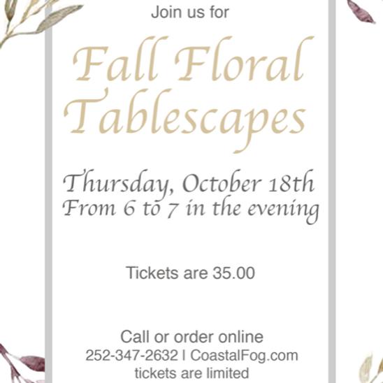 Fall Floral Tablescape Workshop