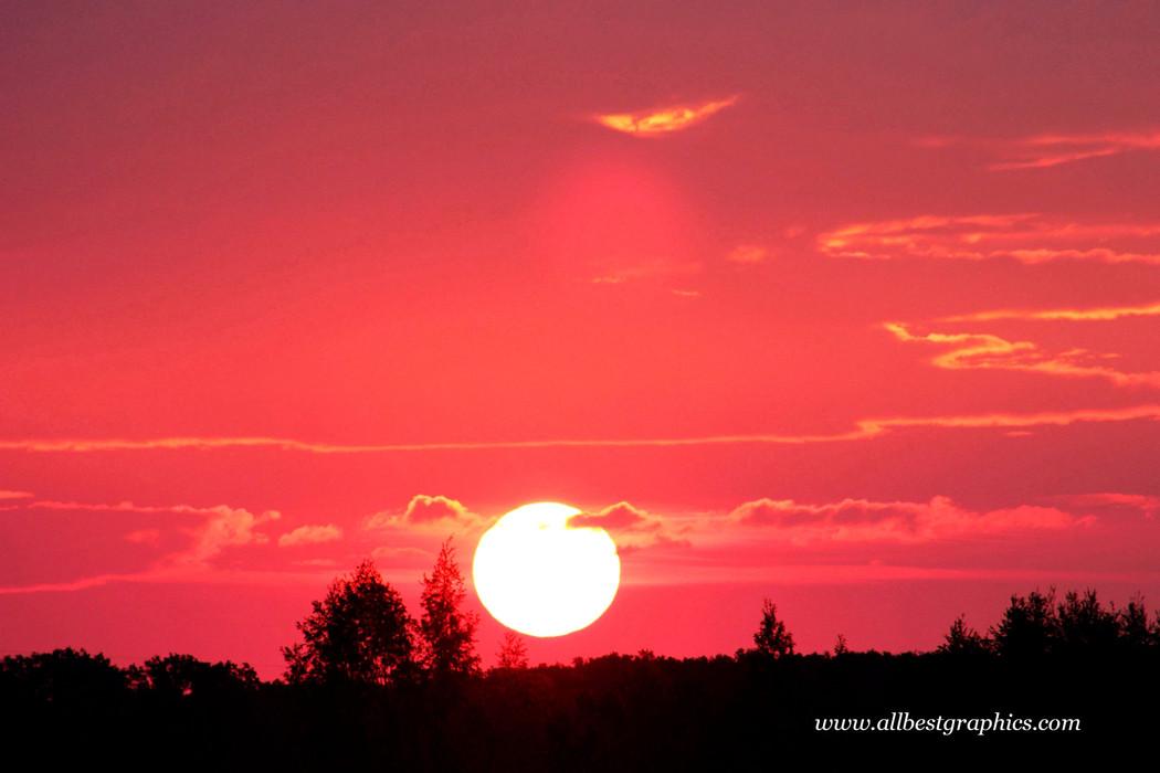Whimsical fluffy sunset background | Photo overlays