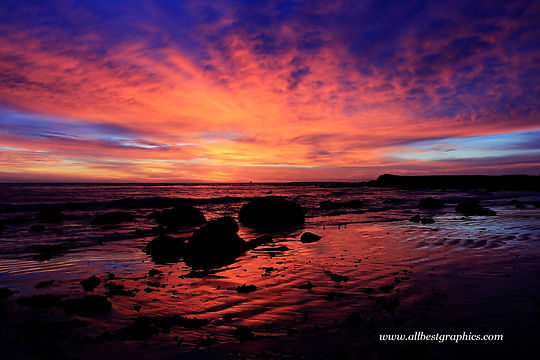 Attractive dark sunset sky with clouds | Photo overlays