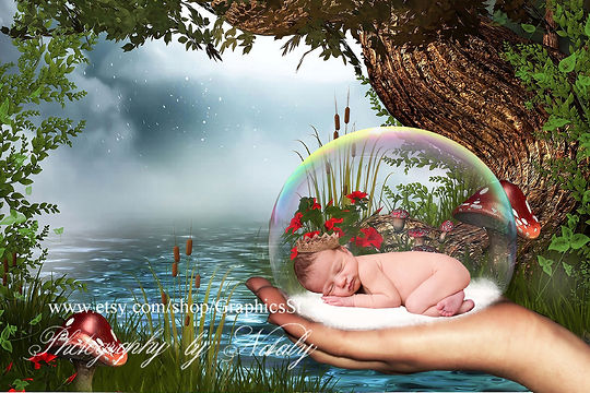 Romantic Newborn Digital Backdrop | Newborn photo props
