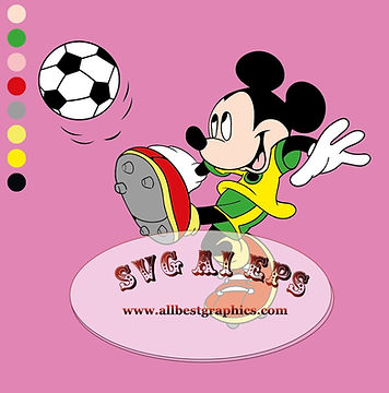 Soccer Mickey Mouse Svg Sport Clipart | Disney Characters Clip Art