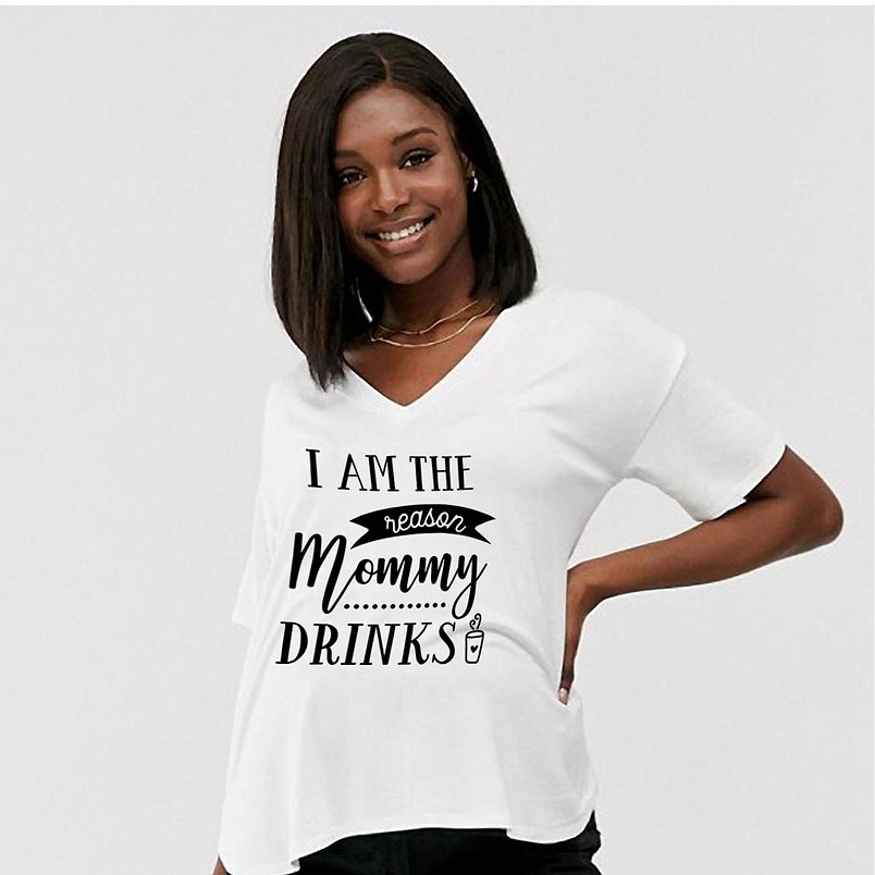 I Am the Reason Mommy Drinks | Brainy Mom Quotes & SignsCut files inSvg