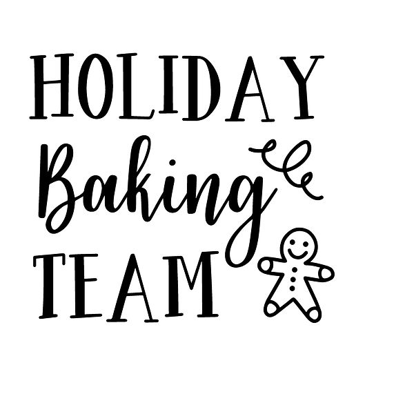 Holidays baking team Png | Free download Iron on Transfer Funny Quotes T- Shirt Design in Png