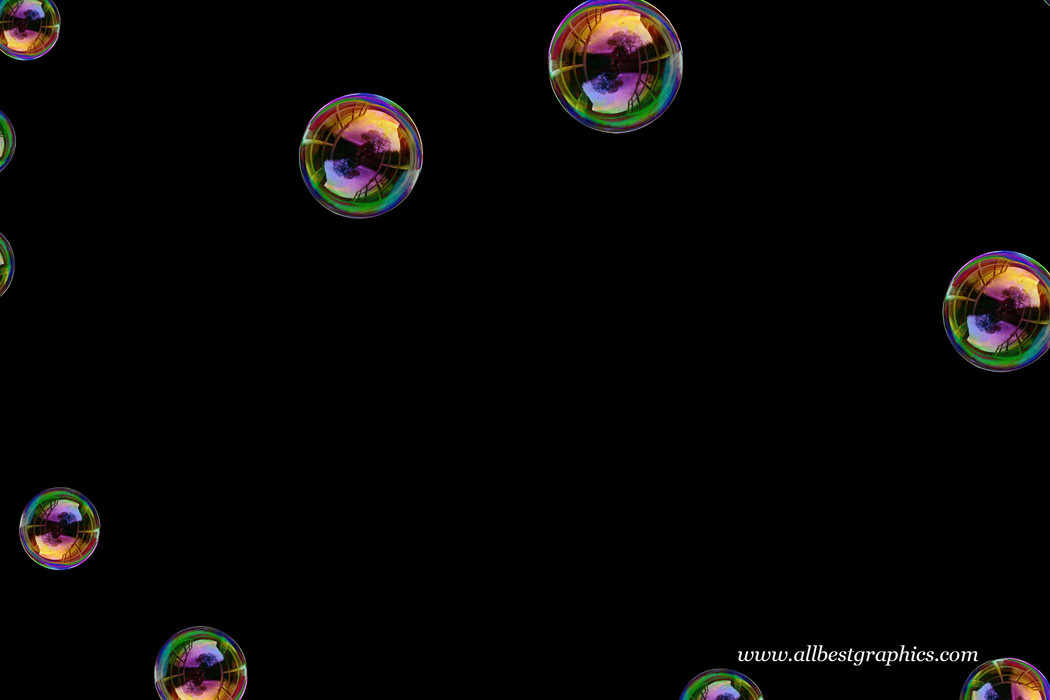 Glorious air soap bubbles on black background | Bubble Photo Overlay