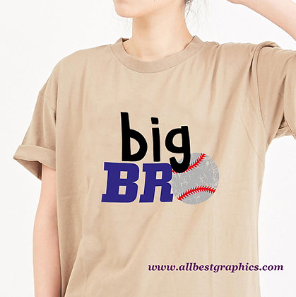 Big Bro Baseball | Funny Quotes & Signs for Cricut and Silhouette Cameo