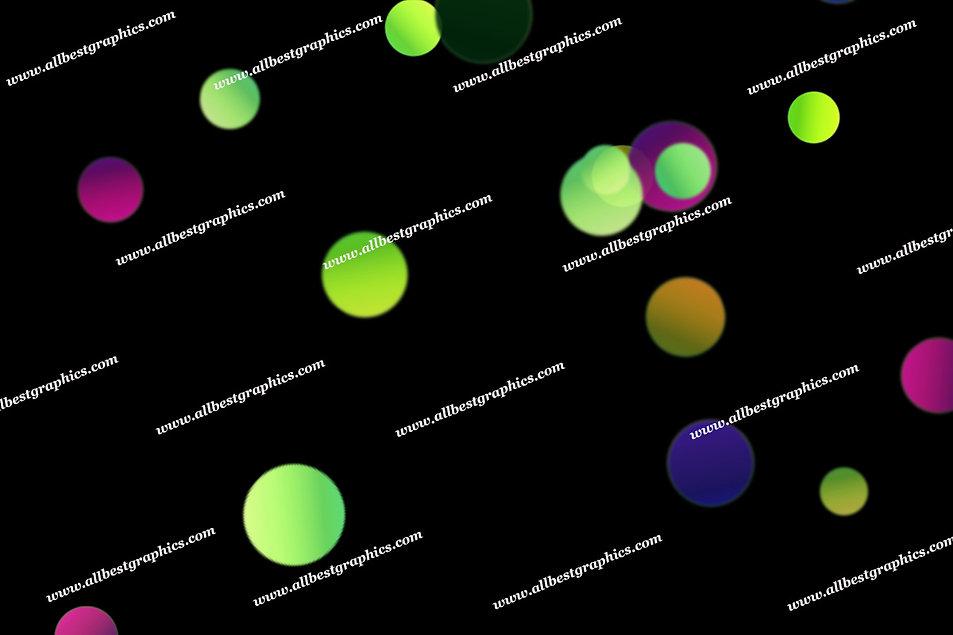 Glorious Soft Lights Bokeh Effect   Elegant Photoshop Overlay on Black