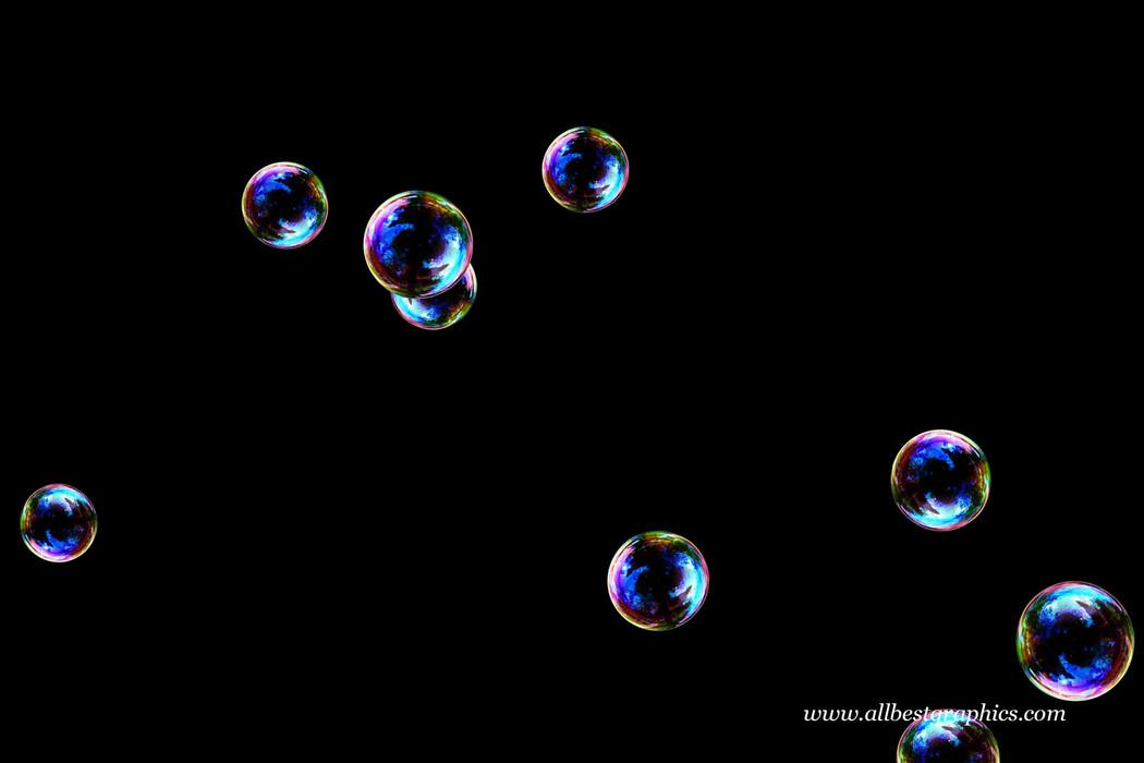 Wondrous bathroom soap bubbles on black background | Bubble Overlays for Photoshop